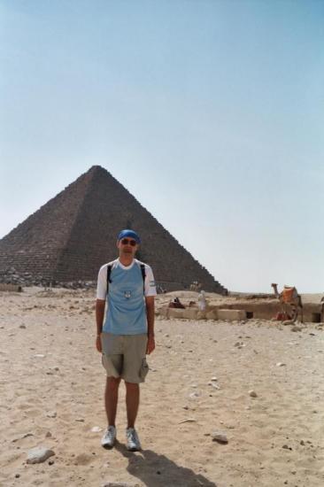 Egypte, Pyramide de Khéops (octobre 2004)
